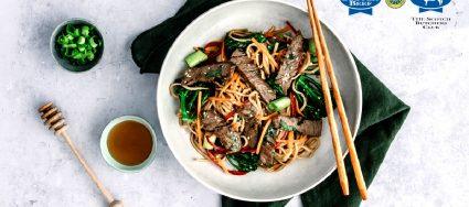 Sticky Scotch Beef Noodles