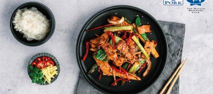 Korean Style Specially Selected Pork Stir Fry